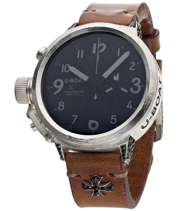 U-Boat Flightdeck 925 Black met Zilveren horlogekast