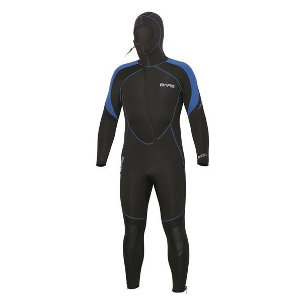 7mm Sport S-Flex Hooded Full Blue Men