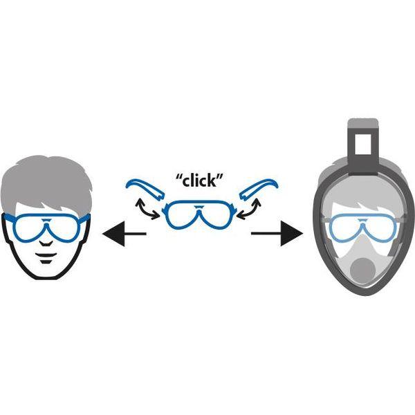 Lens support 2.0 voor Aria snorkelmasker