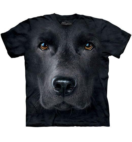 Black Labrador Retriever Face T-shirt