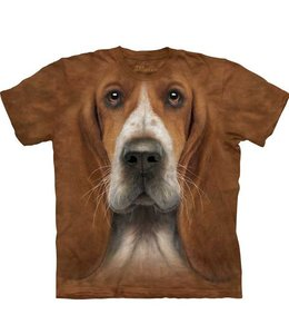 The Mountain Basset Hound Head T-shirt