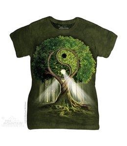 The Mountain Yin Yang Tree Woman's T-shirt