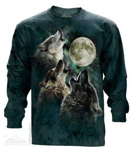 The Mountain Three Wolf Moon T-shirt Long Sleeve