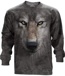 The Mountain Wolf Face T-shirt Long Sleeve