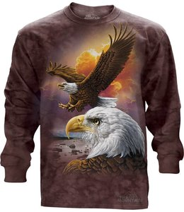 The Mountain Eagle and Clouds T-shirt Long Sleeve