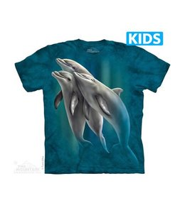 The Mountain Three Dolphins Kids T-shirt