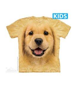 The Mountain Golden Retriever Puppy Kids T-shirt