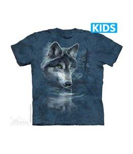 The Mountain Wolf Reflection Kids T-shirt