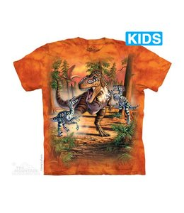 The Mountain Battle of the Dinos Kids T-Shirt