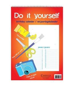 Comello Do it yourself A4 Verjaardagskalender