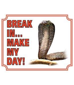 Stickerkoning Cobra Waakbord - Break in make my day