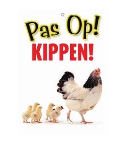 Otterhouse Kippen Waakbord - Pas Op