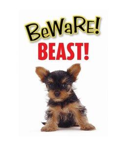 Otterhouse Yorkshire Terrier Waakbord - Beware Beast
