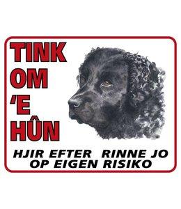 Stickerkoning Wetterhoun Waakbord - Tink om u Hun