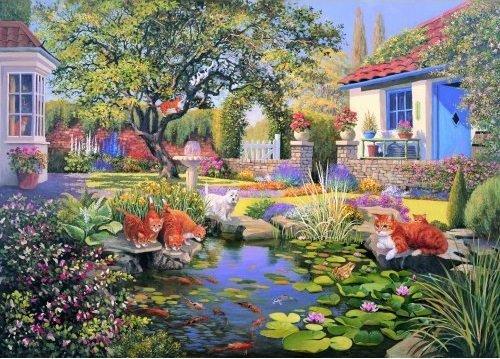 Garden Pond Puzzel 1000 Stukjes