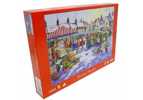The House of Puzzles Market Square Puzzel 1000 Stukjes