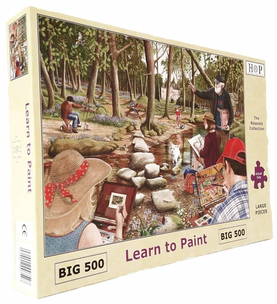 Learn To Paint Puzzel 500 Stukjes XL