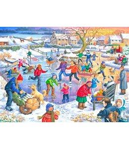 The House of Puzzles Ice Skating Puzzel 500 Stukjes XL