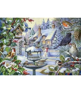The House of Puzzles Winter Birds Puzzel 500 Stukjes XL