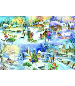 The House of Puzzles Snowy Afternoon Puzzel 500 Stukjes XL