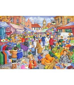 The House of Puzzles Market Day Puzzel 250 Stukjes XL