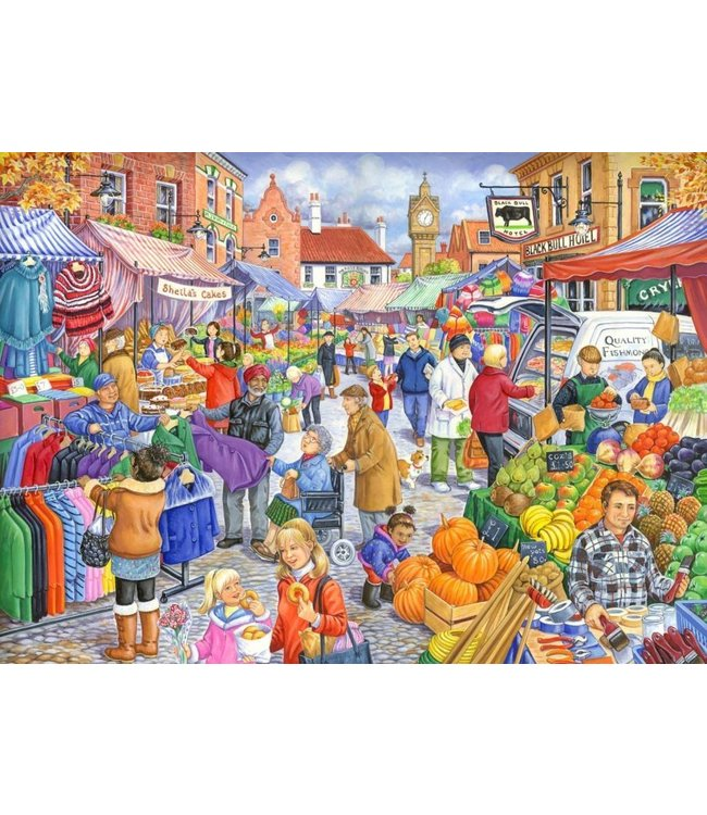 The House of Puzzles Market Day Puzzel 250 Stukjes XL