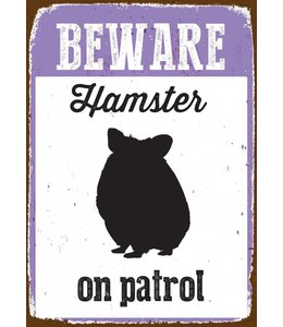 Magnet & Steel Hamster Waakbord Beware