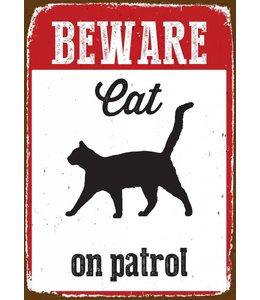 Magnet & Steel Katten Waakbord Beware