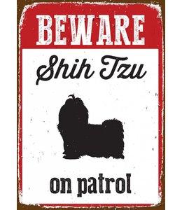 Magnet & Steel Shih Tzu Waakbord Beware