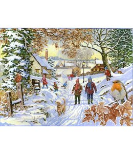 The House of Puzzles Snowy Walk Puzzel 500 XL stukjes