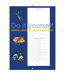 Comello Do it Yourself Verjaardagskalender Blauw