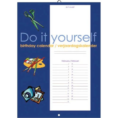 Do it Yourself Verjaardagskalender Blauw