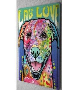 Leotie Labrador Retriever Metalen Bord Love