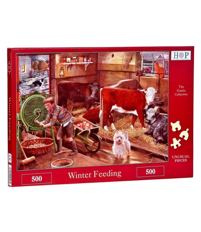 The House of Puzzles Winter Feeding Puzzel 500 stukjes