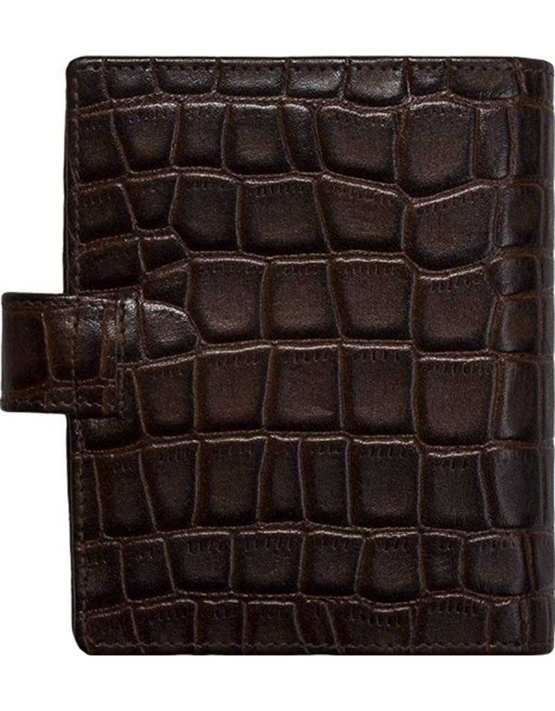 Kalpa 1311-Cm Kalpa pocket organiser Crocoprint brown - leather + free agenda