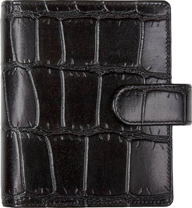 Kalpa Kalpa Pocket - Junior organizer Crocoprint Zwart - leer