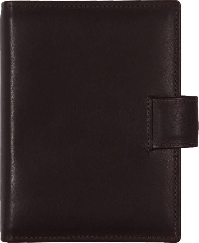 De Rooy 1311-Xd de Rooy pocket organiser leather - Sepia brown + free agenda
