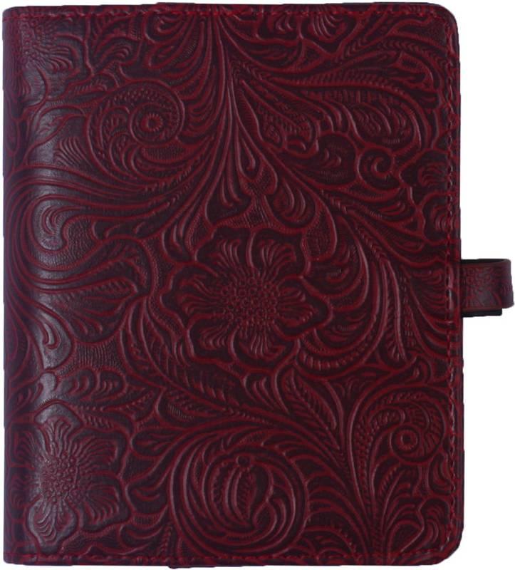 Kalpa 1311-48 Kalpa Junior Pocket Organiser With Paper Fillers, Weekly Planner, Journal, Diary - Burgundy Flowers