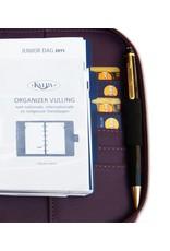 Kalpa 1318-98 Kalpa Junior Pocket Organiser Leather With Zip, Paper Fillers, Weekly Planner, Journal, Diary - Pica Purple