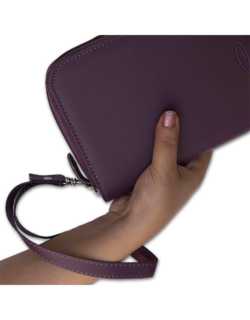 Kalpa 1318-98 Kalpa pocket organiser with zip Pica purple + free agenda