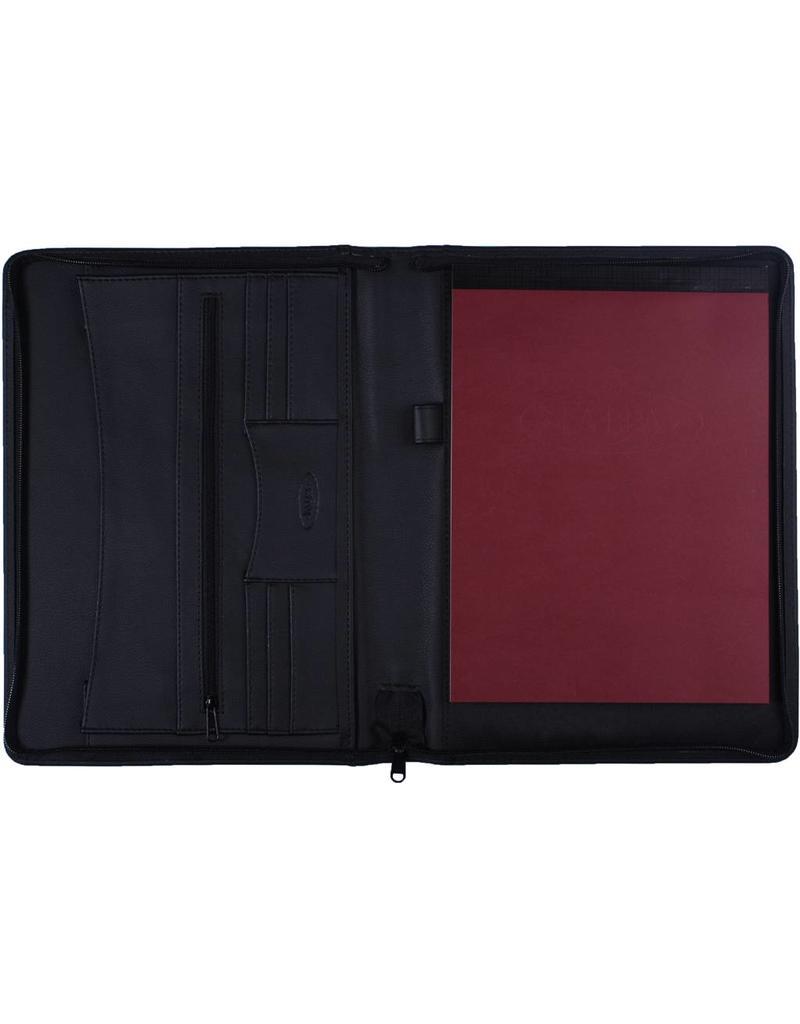 Kalpa 2400-81 Kalpa Alpstein writing case with zip grain black