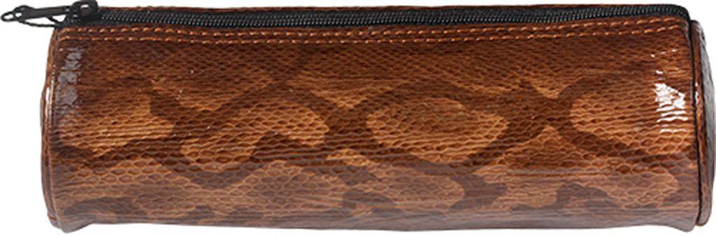 Kalpa 5400-94 Kalpa Alpsee pencase with zip snakeprint brown