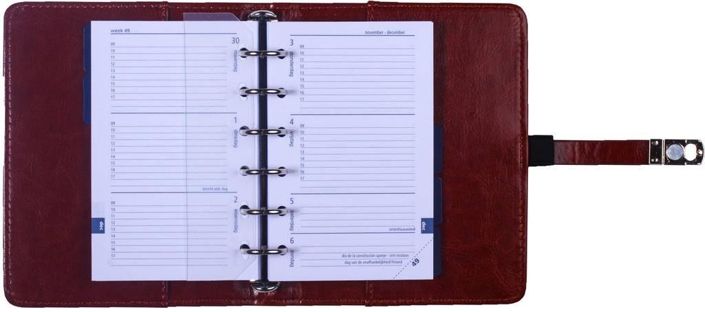 Kalpa 1311-40 Kalpa Junior Pocket Organiser With Paper Fillers, Weekly Planner, Journal, Diary - Paro Brown