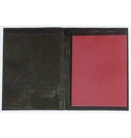 Kalpa 2200-Ij Zurich schrijfmap Zwart met geweven bruin - leer