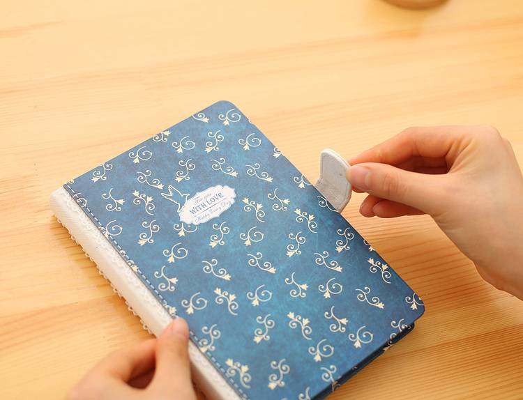 Dreamnotes D1309-1 Dreamnotes notebook With Love 17,5 x 25 cm Blue