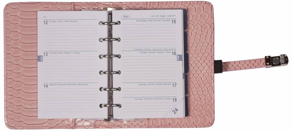 Kalpa 1311-56 Kalpa pocket organiser croco pink + free agenda
