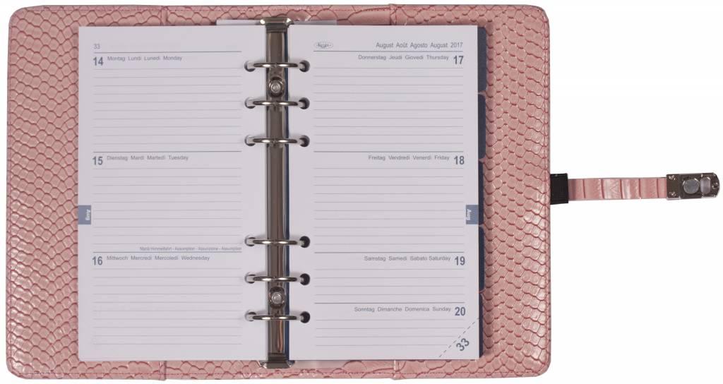 Kalpa 1111-56 Kalpa personal organiser croco pink + free agenda