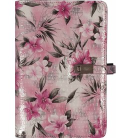 Kalpa 1111-58 Kalpa Personal Organisers Leather with Paper Filler Weekly Planner, Journal, Diary - Flower Pink