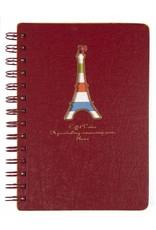 Dreamnotes Dreamnotes notitieboek Eiffeltoren 13 x 18,5 cm rood