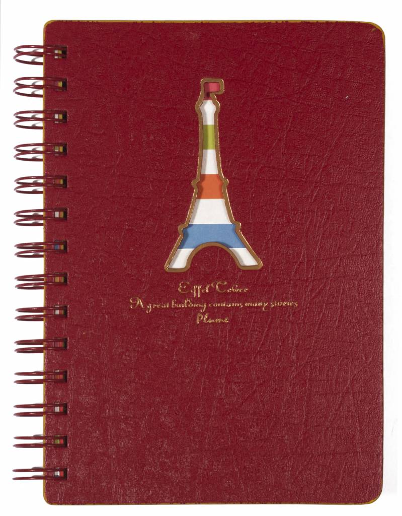 Dreamnotes D5129-1 Dreamnotes notebook Eiffel Tower 13 x 18,5 cm Red